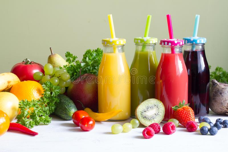 Fresh fruits  and vegetables healthy life style food fitness concept. Closeup stock image