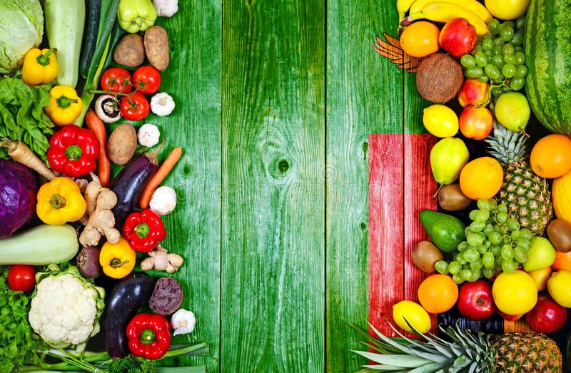 Fresh fruits and vegetables from Zambia royalty free stock photo