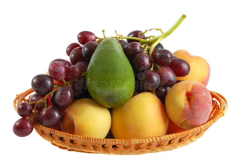 Download Fresh Fruits On The White Background Stock Image - Image of healthy, bunch: 6055147