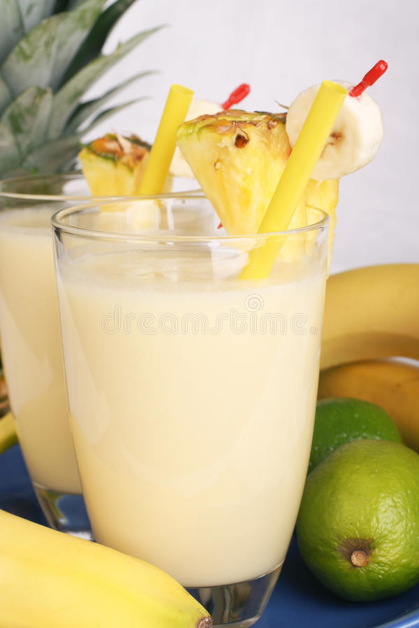 Fresh fruity milkshake royalty free stock photography