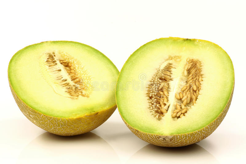 Download Fresh Galia Melon Halves Royalty Free Stock Image - Image: 14401526