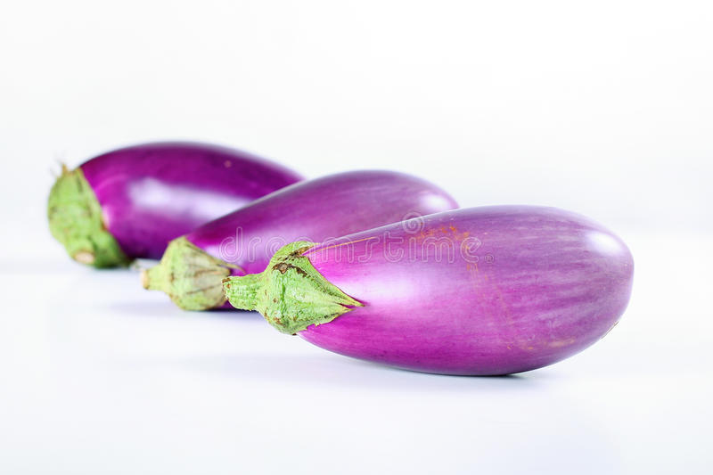 Download Fresh From The Garden Eggplant On White Stock Image - Image: 15148837