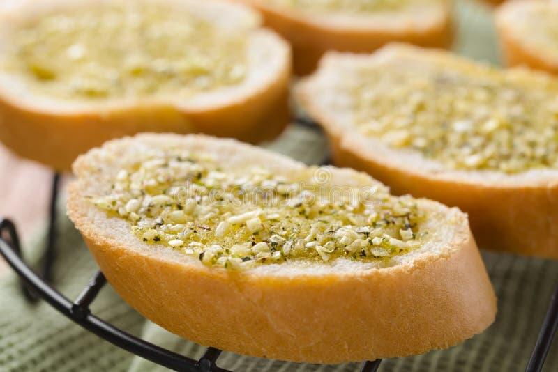 Fresh Garlic Bread with Oregano royalty free stock images