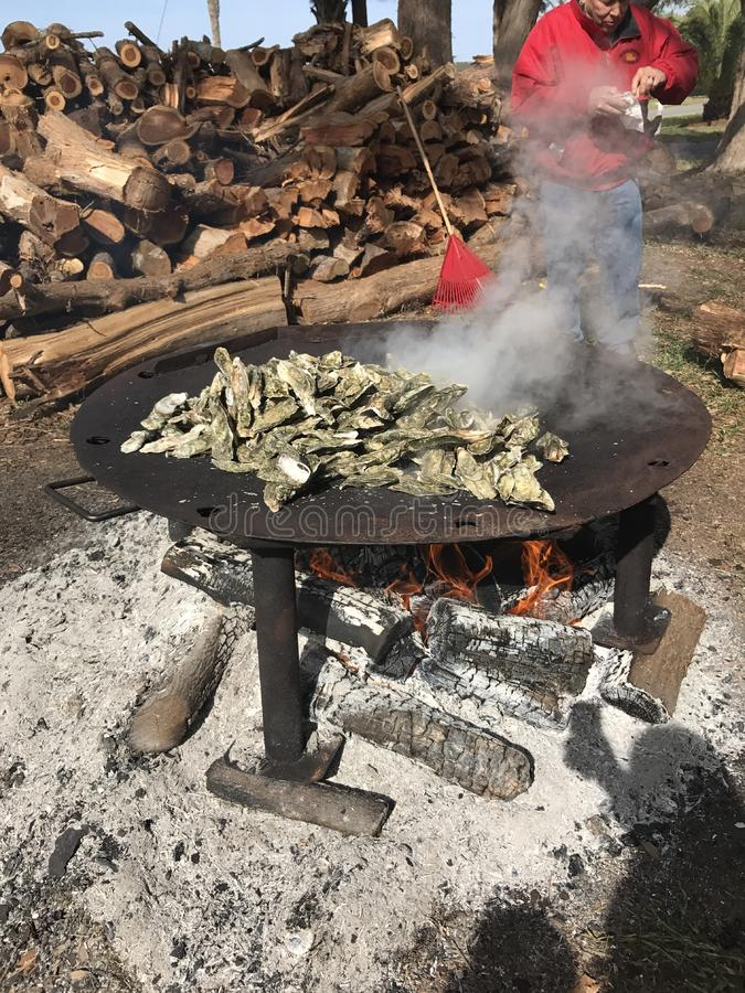 Oyster Roast royalty free stock images