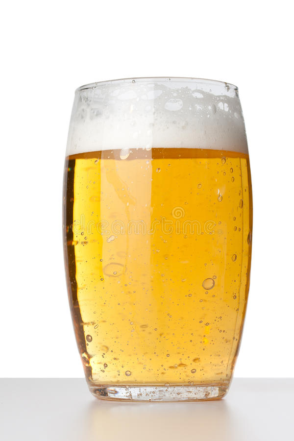 Fresh glass of beer royalty free stock images