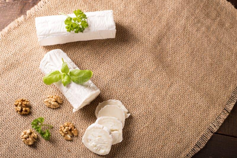 Fresh goat cheese stock photos