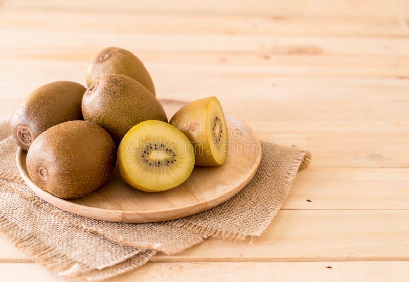 fresh golden kiwi royalty free stock photos