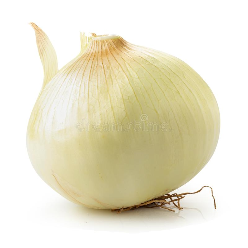Fresh golden onions isolated over a white background stock photos