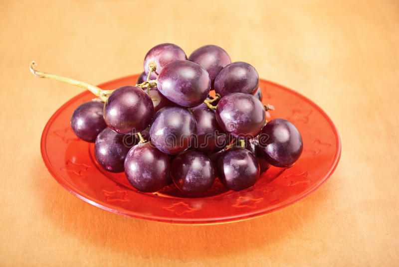 Grapes On The Plate Royalty Free Stock Photography
