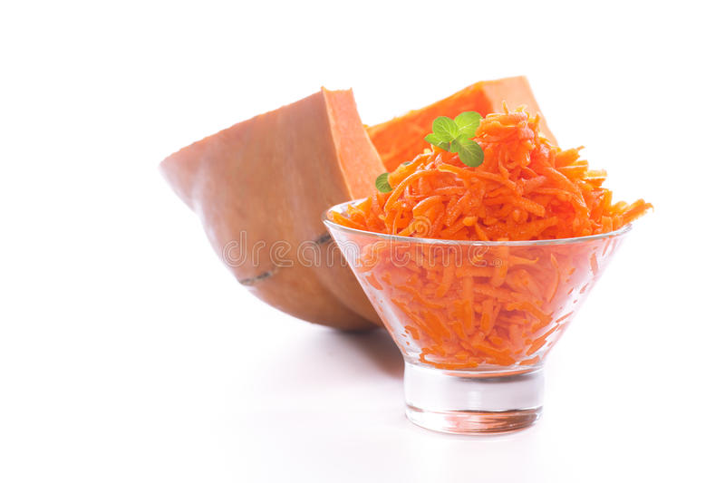 Download Fresh Grated Pumpkin Stock Photo - Image: 83713590
