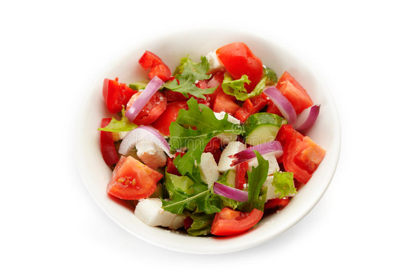 Download Fresh Greek Salad stock photo. Image of bowl, dairy, lettuce - 27298602