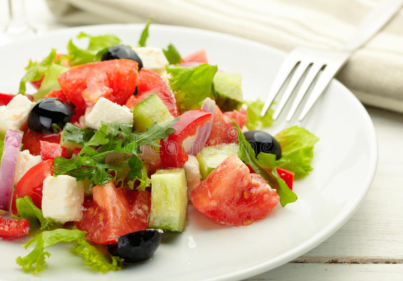 Download Fresh Greek Salad stock image. Image of green, lunch - 27298869