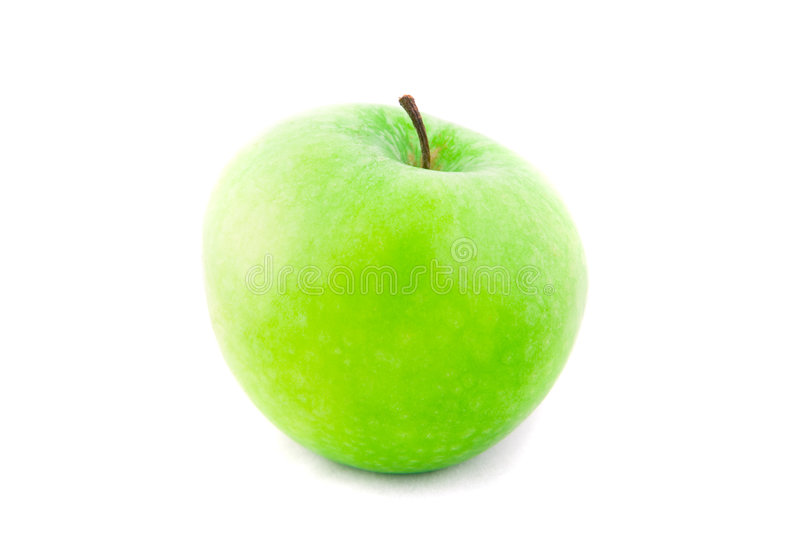 Fresh green apple isolated stock photography