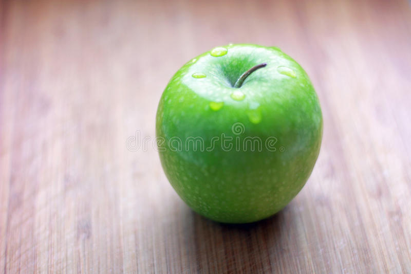 Fresh green apple royalty free stock image