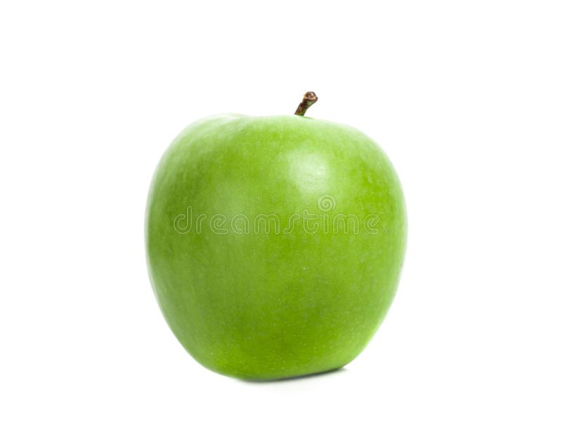 Fresh Green Apple on White Background. Fresh Green Apple on White royalty free stock image