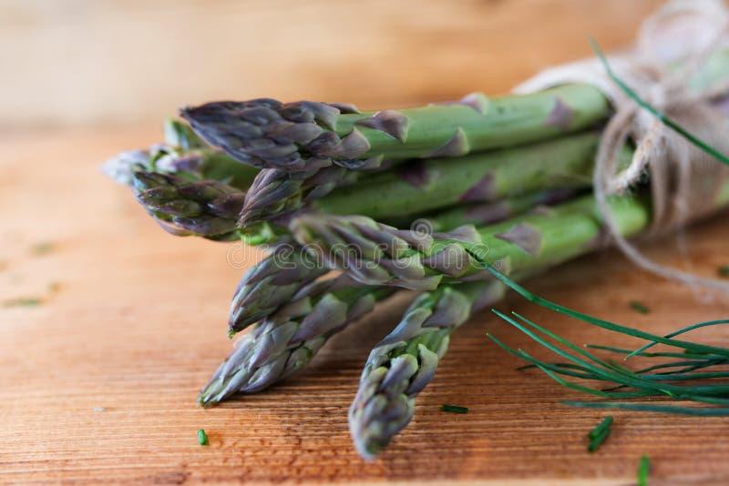 Fresh green asparagus royalty free stock image