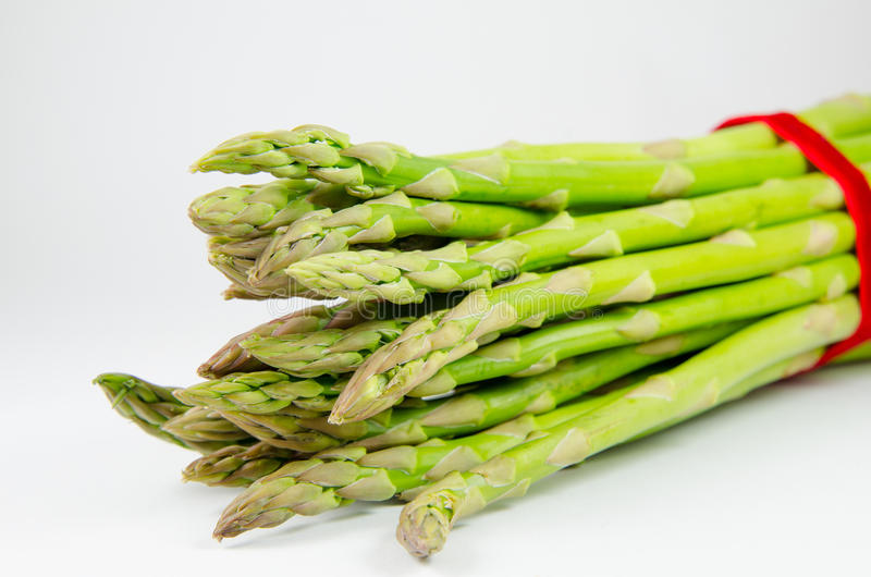 Fresh green asparagus royalty free stock photo