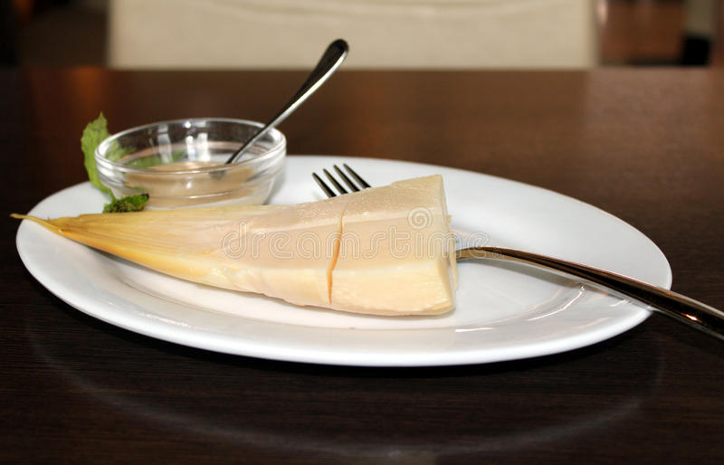 Download Fresh Green Bamboo stock image. Image of white, sauce - 32140523
