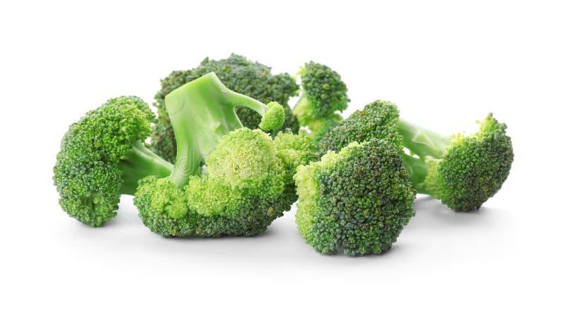 Fresh broccoli on white background. Organic food royalty free stock images