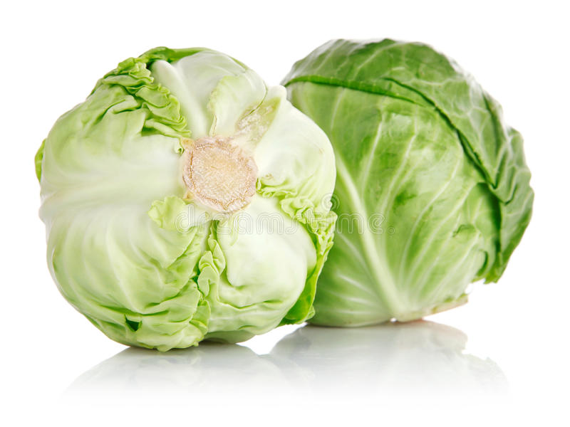 Download Fresh Green Cabbage Fruit Isolated Stock Image - Image: 14850083