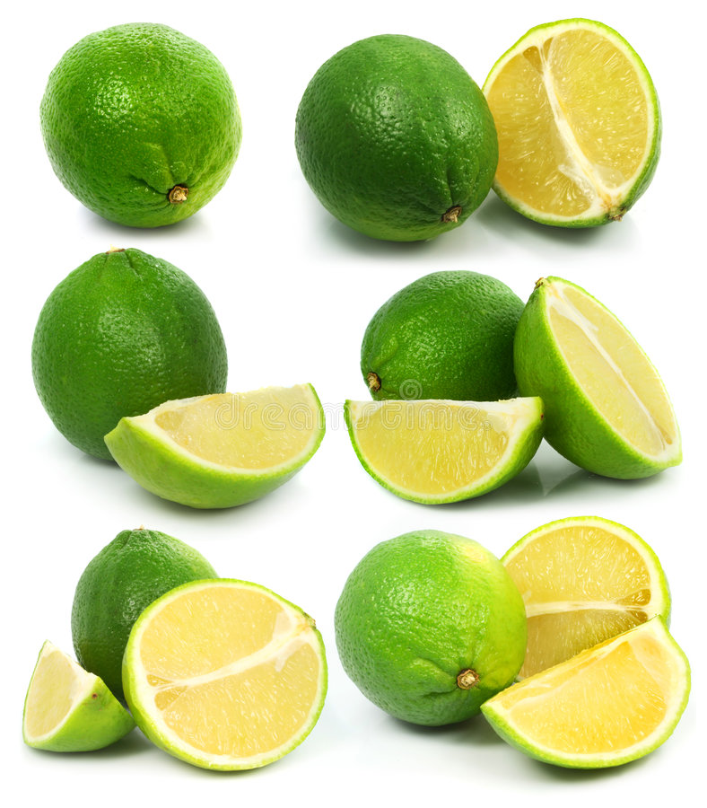 Download Fresh Green Lime Fruits Isolated Healthy Food Stock Photo - Image: 4836050