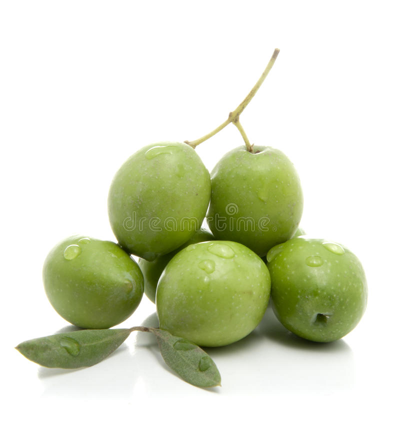 Fresh Green Olives royalty free stock photography