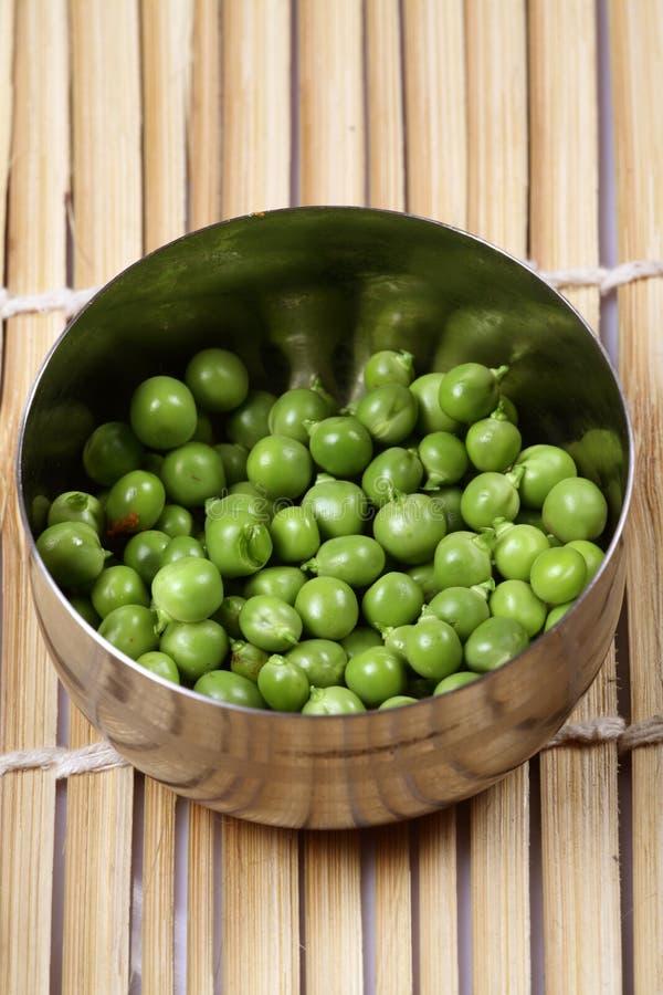 Download Fresh green peas stock photo. Image of peas, steel, bamboo - 18016210