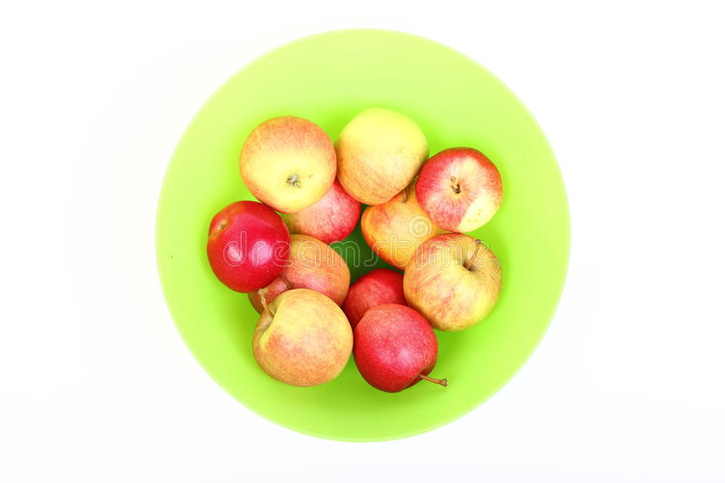 green and red apples in basket. fresh green, red apples in basket isolated green and e