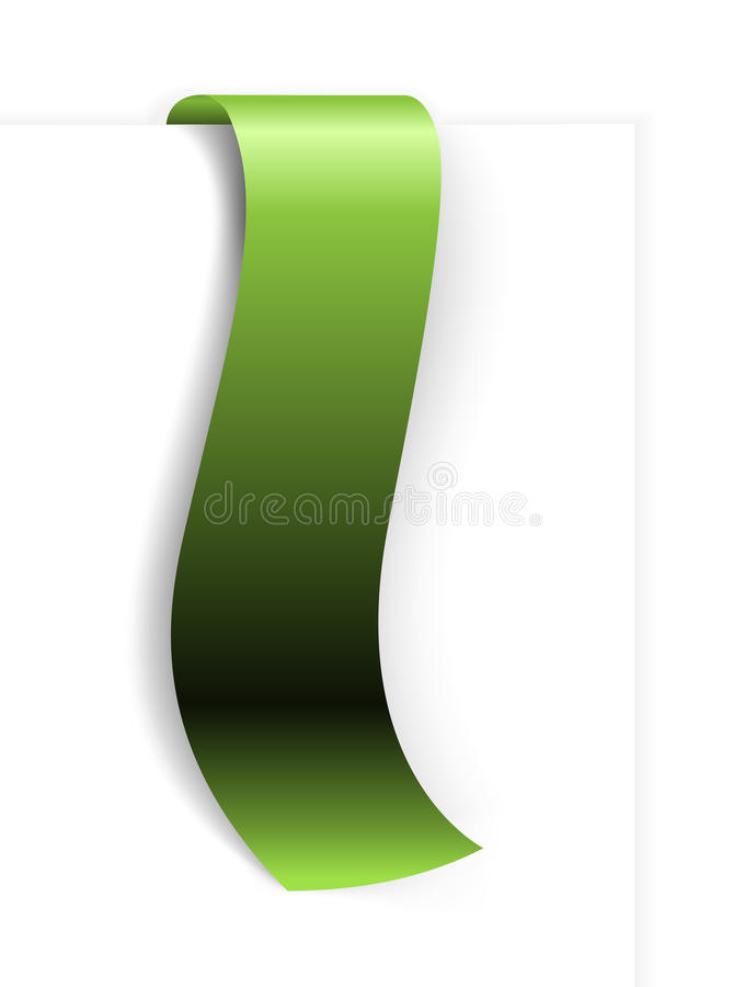 Fresh green ribbon royalty free illustration