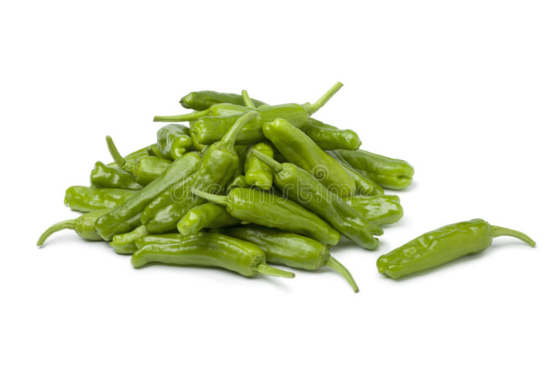 Fresh green shishito peppers royalty free stock images