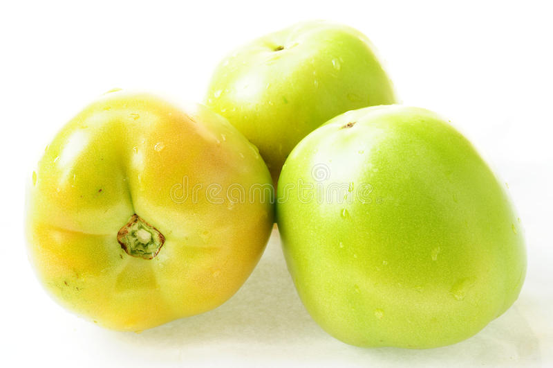 Fresh Green Tomatoes Stock Photos