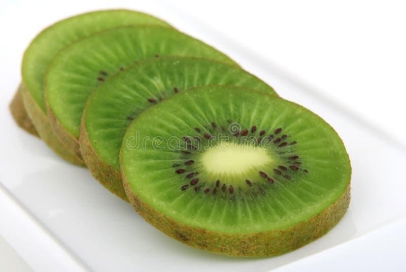 Fresh green tropical kiwi fruit royalty free stock image
