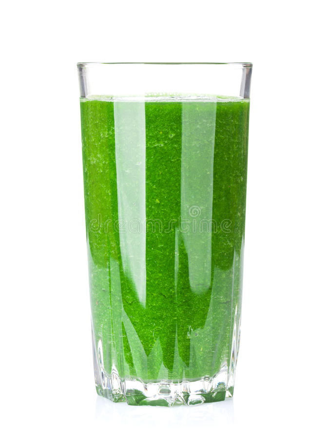 Fresh green vegetable smoothie stock image