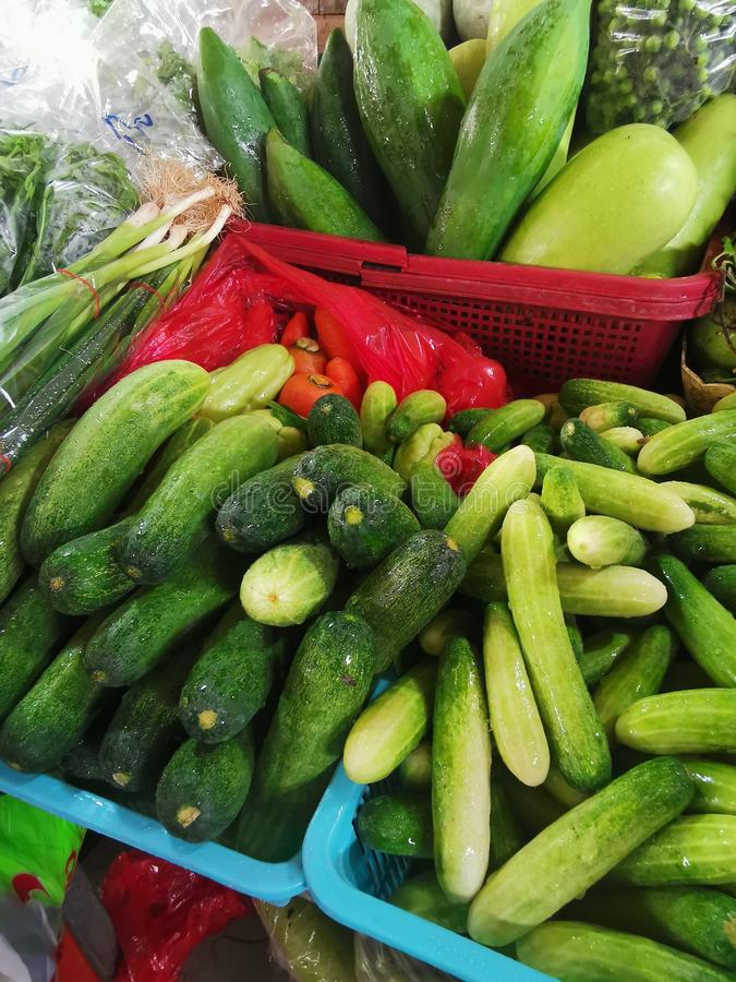 Fresh green vegetables royalty free stock photography