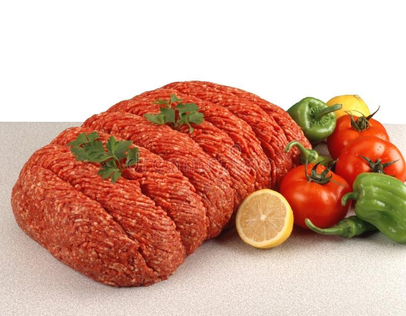 Fresh ground beef stock photography