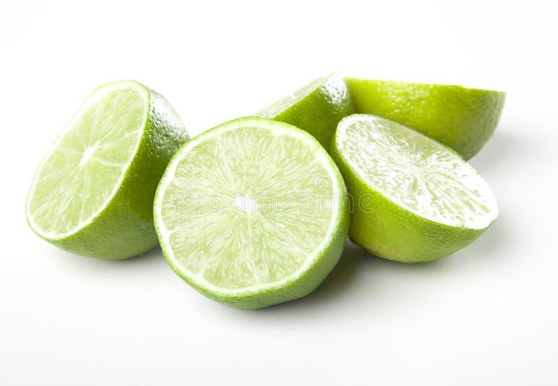 Fresh halfs of lime stock photo