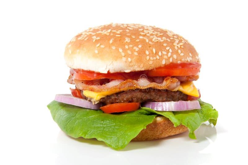 A fresh hamburger royalty free stock photo