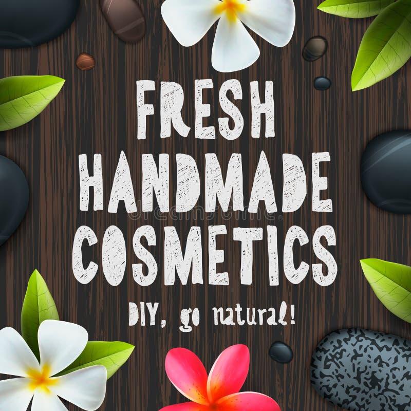 Fresh handmade organic cosmetics vector illustration