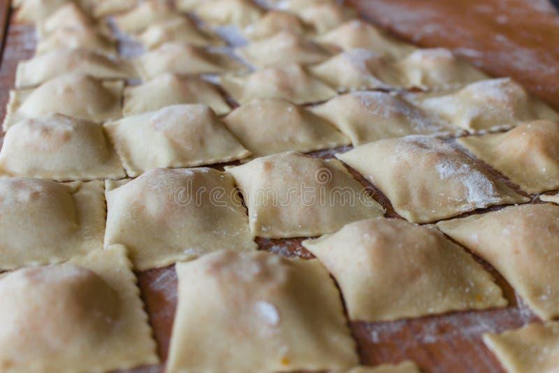 Fresh handmade ravioli. italian kitchen. stock image