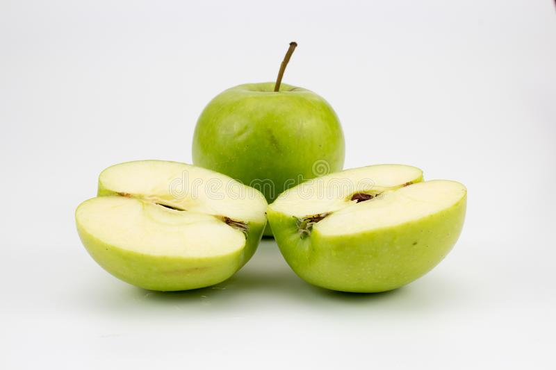 A fresh healthy apples on the table. Background, multiple uses is possible royalty free stock image
