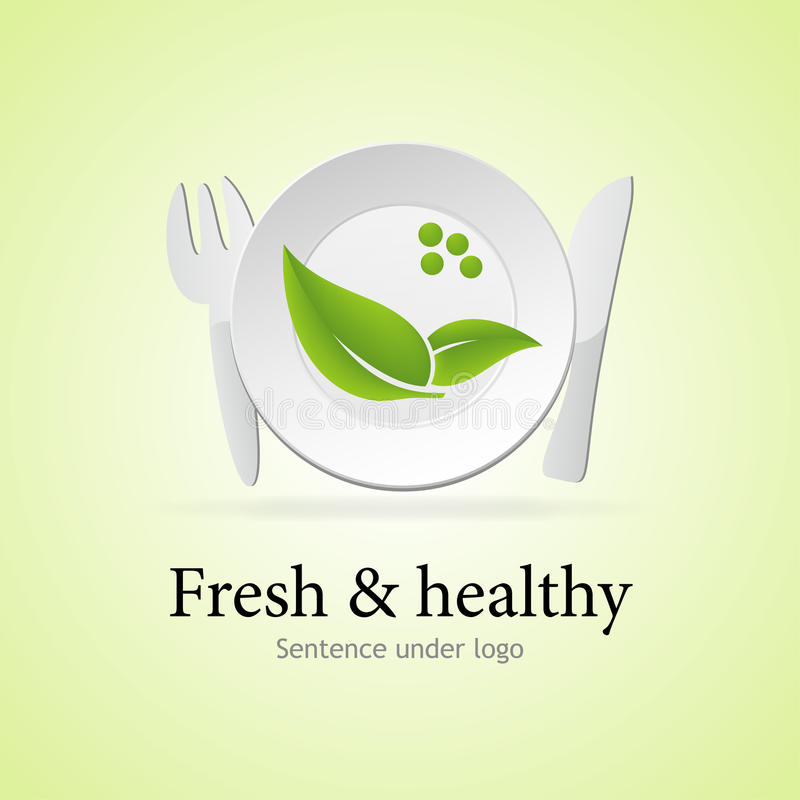 Fresh and Healthy meal vector illustration