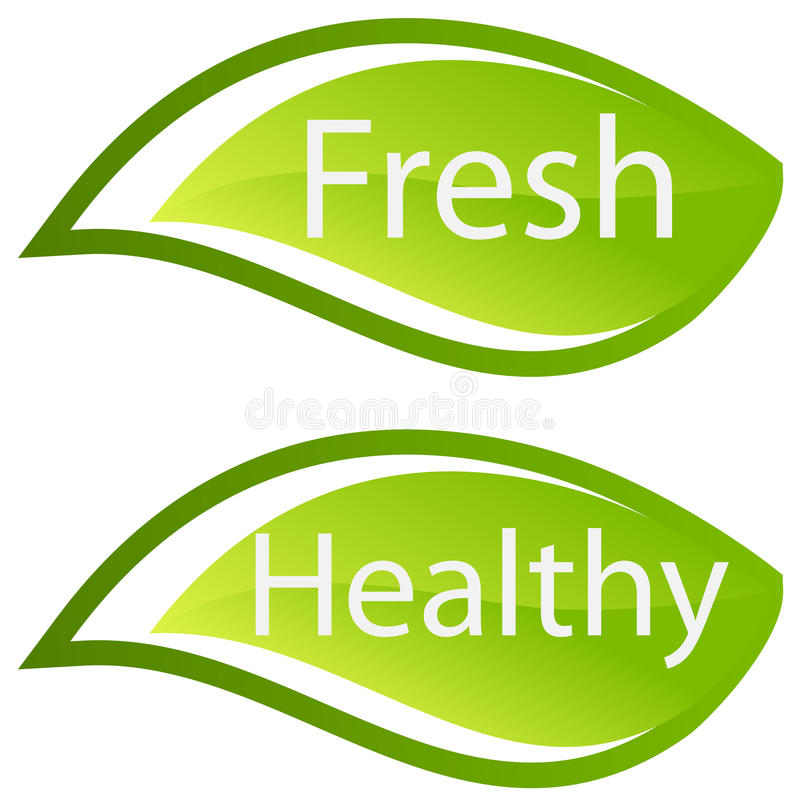 Download Fresh And Healthy  Sign/icon Royalty Free Stock Photo - Image: 11693485