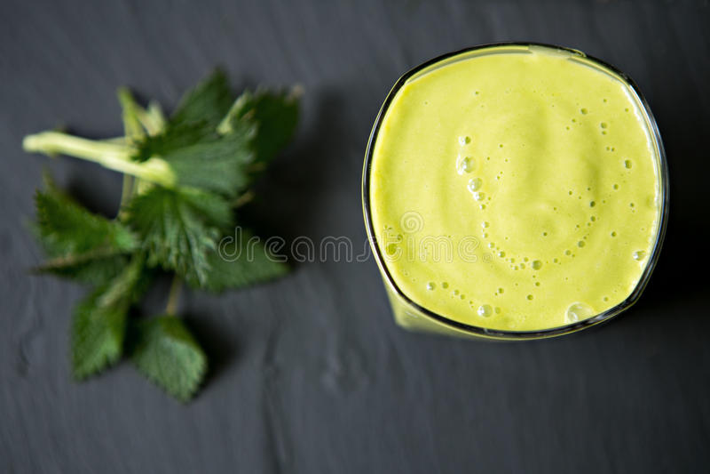 Fresh Healthy Smoothie Made Of Banana avocado stock image