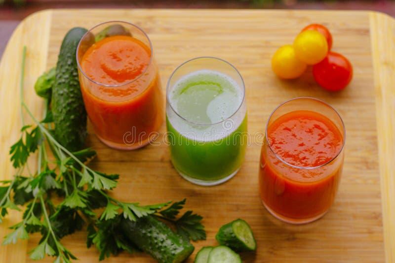 Fresh Healthy Vegetables Fruits Smoothie Glass Jar Vitamins Summer Season stock photos