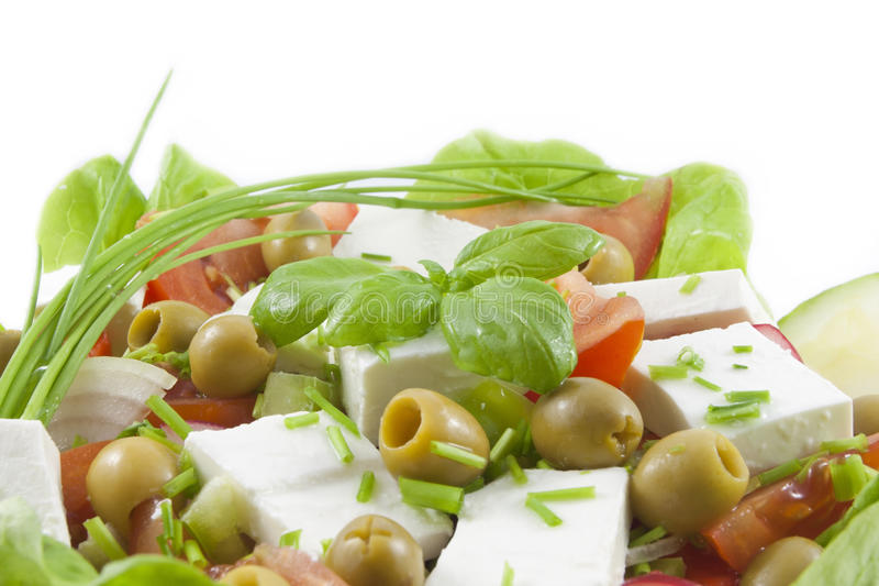 Download Fresh Healthy Vegetables Salad With Feta Stock Photo - Image: 18066702