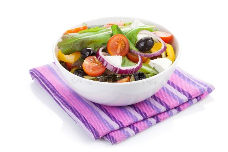 Fresh healty salad bowl royalty free stock photos