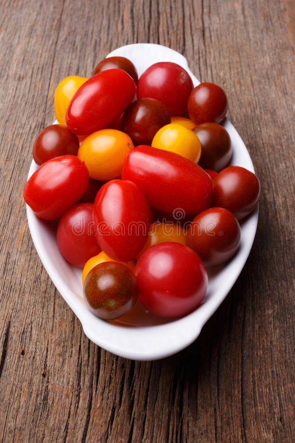Fresh heirloom cherry tomatoes royalty free stock images