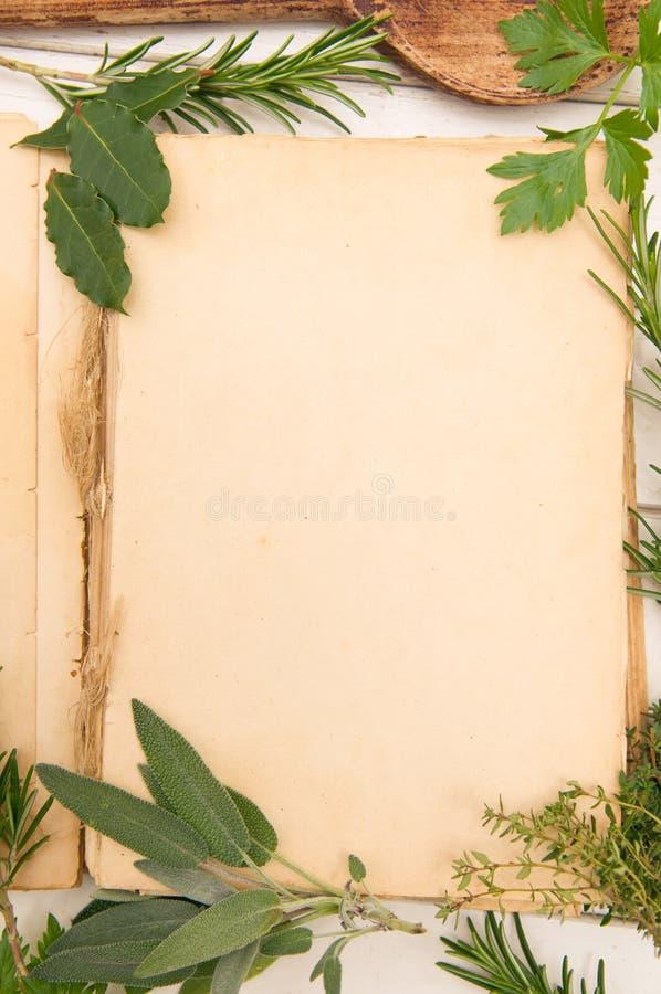 Fresh Herbs Background Stock Image
