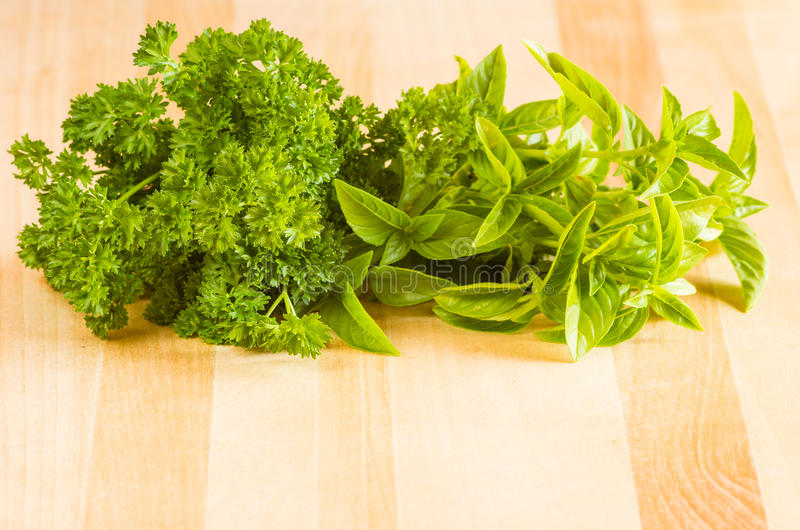 Download Fresh Herbs On A Cutting Board Stock Photo - Image of spice, cooking: 28886760