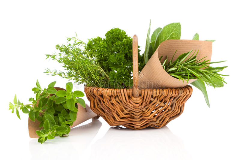 Download Fresh Herbs Oregano, Rosemary, Parsley And Sage Stock Photo - Image: 83724211